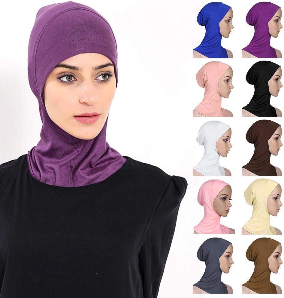 Blentude Muslim Hijab Lady Kopftuch Sonnencreme 100 Modal Baumwolle Rundhals HUI Peoples Bottoming Cap