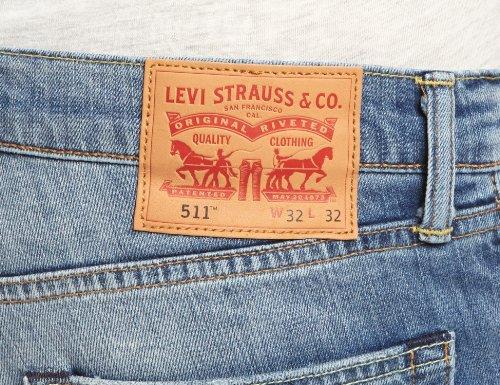 Fit 511 Hombre Harbour Levi's para Slim Jeans Azul SfqAUA6Txw