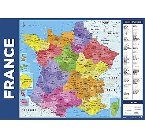 Grupo Erik Editores Vade Escolar Carte De France 2017 (Editado en Francés): Amazon.es: Oficina y papelería