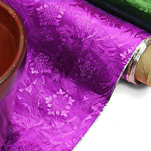 Purple Embossed Floral Foils 20