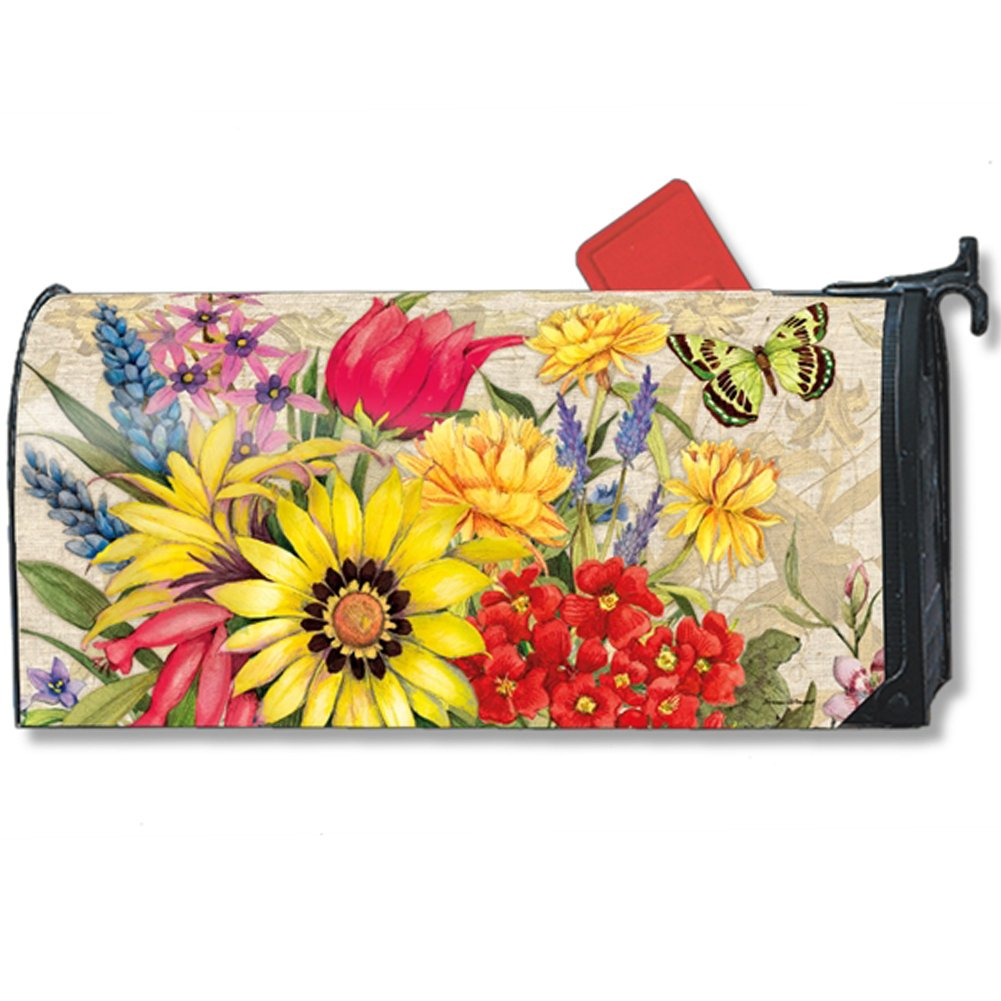 MailWraps Botanical Garden Large Mailbox Cover #21323