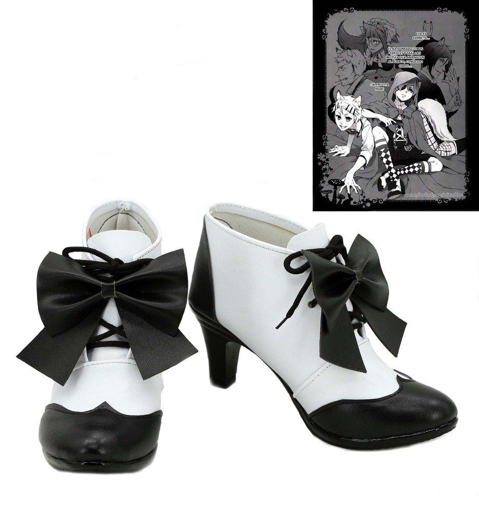 Black Butler Kuroshitsuji Little Red Riding Hood Ciel Cosplay Shoes Boots Custom Made 6 B(M) US Female