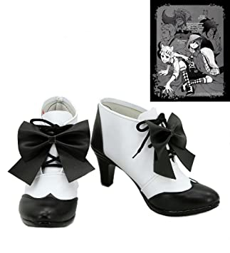 Black Butler Kuroshitsuji Little Red Riding Hood Ciel Cosplay Shoes Boots Custom Made