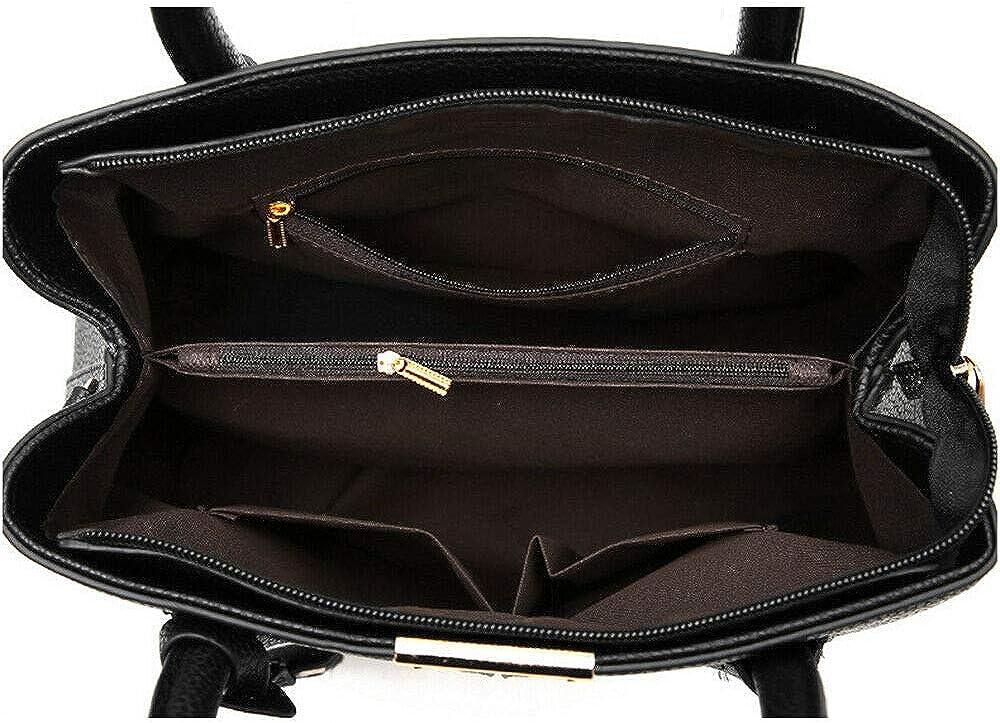 Wonderful Women Leather Handbag Ladies Tote Shoulder Purse Satchel Messenger Crossbody Bag Dark Blue