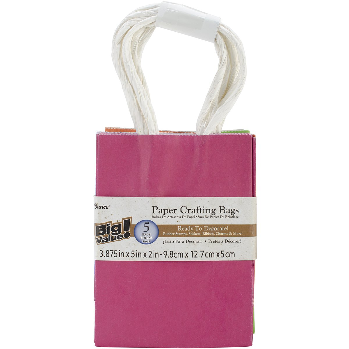 Amazon.com: Darice BAG240 5-Piece 2 by 3.875 by 5.125-Inch ...
