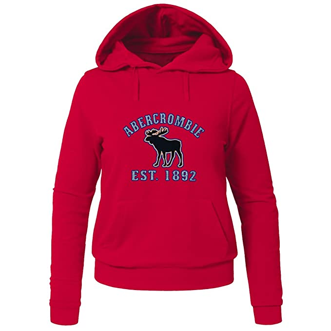 AF Abercrombie Fitch Hoodies - Sudadera con capucha - para mujer rojo rosso Large: Amazon.es: Ropa y accesorios