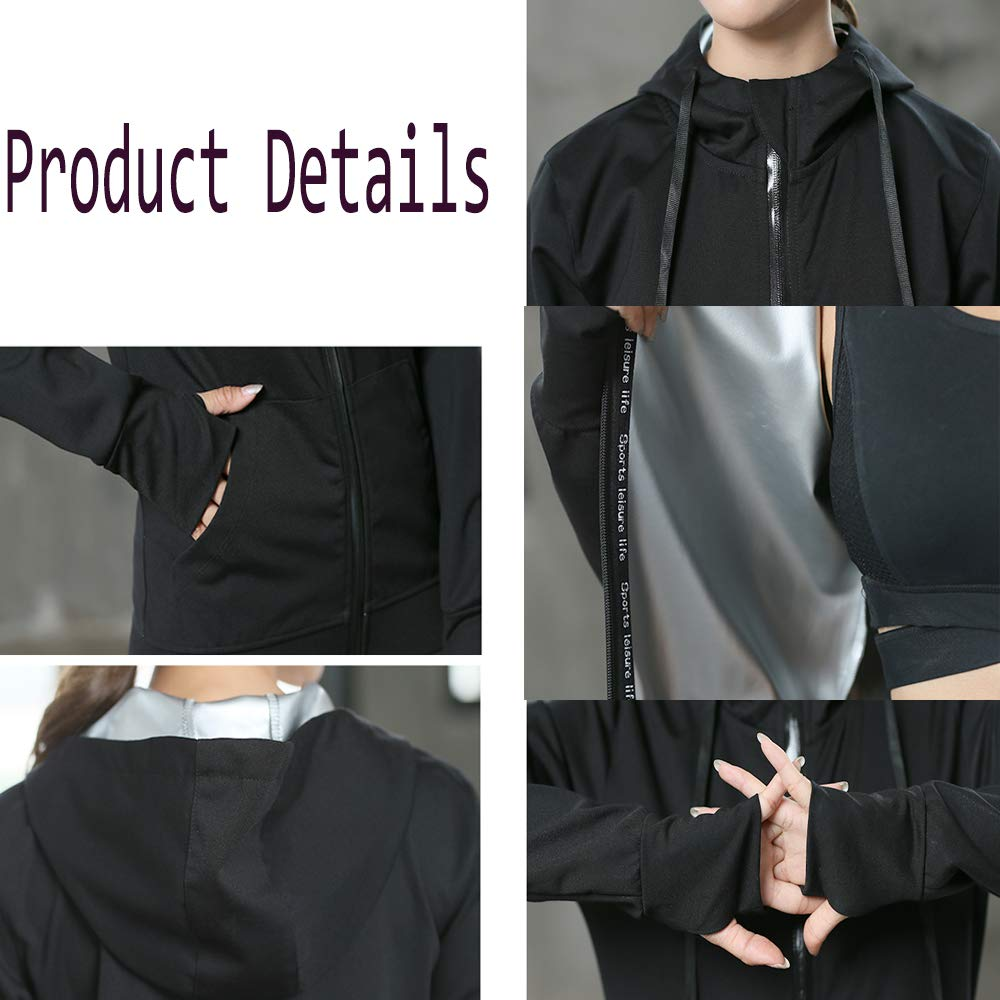 Sweat Sauna Suit Running Anti-Rip Track Weight Loss Slimming Fitness Gym Exercise Training Suit for Workouts ,Fitness ,Weight Loss