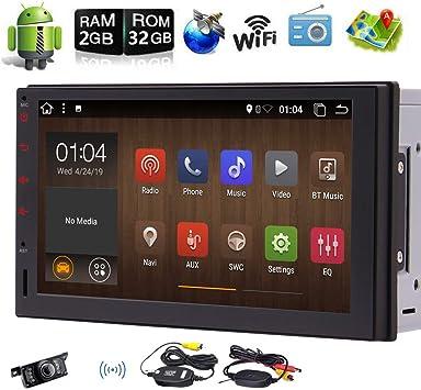 """1080P Wifi Android 6.0 1 Din 7/"""" BT Touchscreen GPS SAT NAV Navigation Car Player"""