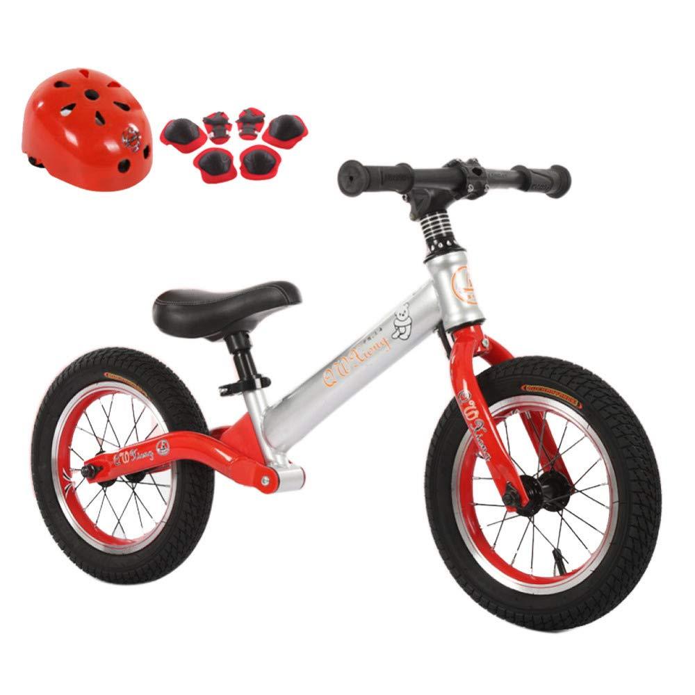 Balance Bike Kein Pedal Walking Bicycle Mit Carbon-Stahlrahmen, Verstellbarem Lenker Und Seat Mit Helmprotektor, 2 Bis 6 Jahre Alt,A-12& 039;& 039;