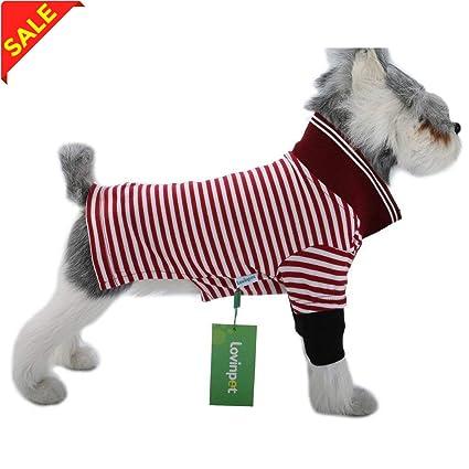 449fa1606734 LovinPe Dog Clothes, Stripe Dogs Pajamas, Dog Apparel, Dog Polo Shirt  Cotton Outdoor