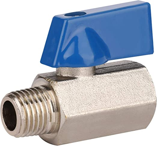 WYNNsky Tank Mini Ball Valve 1//4NPT Female Threads/×1//4NPT Male Threads Shut-Off Air Compressor Accessories Fittings