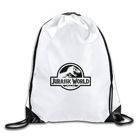 c0256f4852 Jurassic World Dinosaurs Logo White Drawstring Backpack Sport Bag For Men    Women  Amazon.co.uk  Kitchen   Home