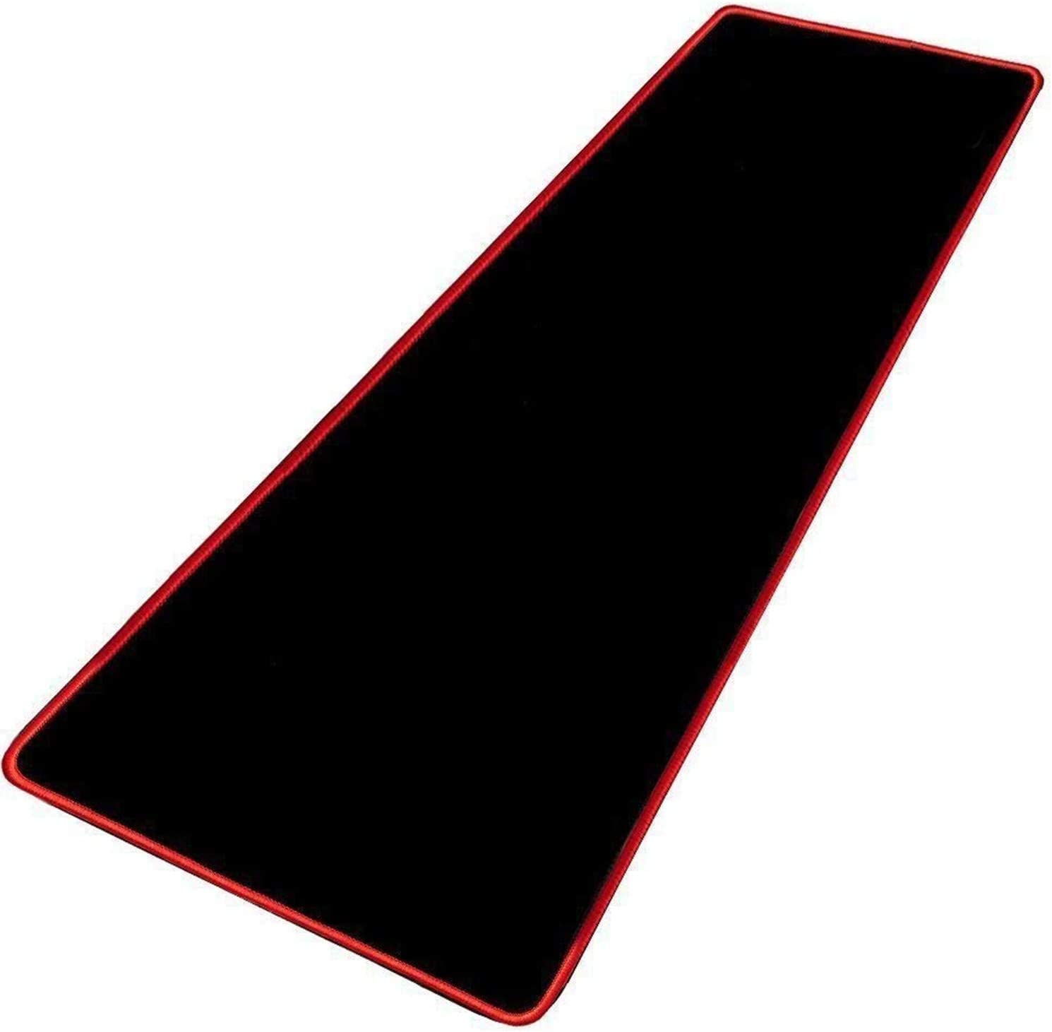 Extended Gaming Mouse Pad Large Mousepad Non-Slip Rubber, Waterproof Keyboard Pad, Desk Mat for Gamer Mac Notebook, Office Home, 31.4 x 11.8 in, Black