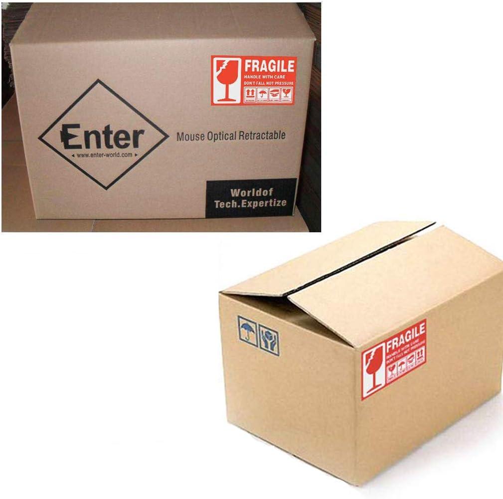 112 PCS Lot deFRAGILE Emballage Stickers // /étiquettes autocollantes 5 * 9 cm Autres quantit/és disponibles /à partir de cette Liste Red 15 * 9 cm et petite Grande taille