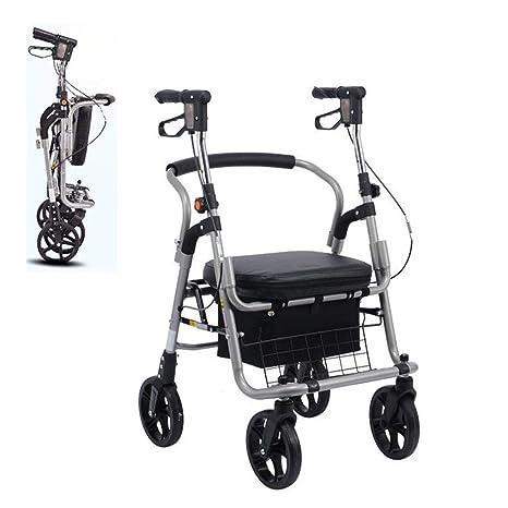 LQFLD Silla de Transporte con Andador con Respaldo de ...