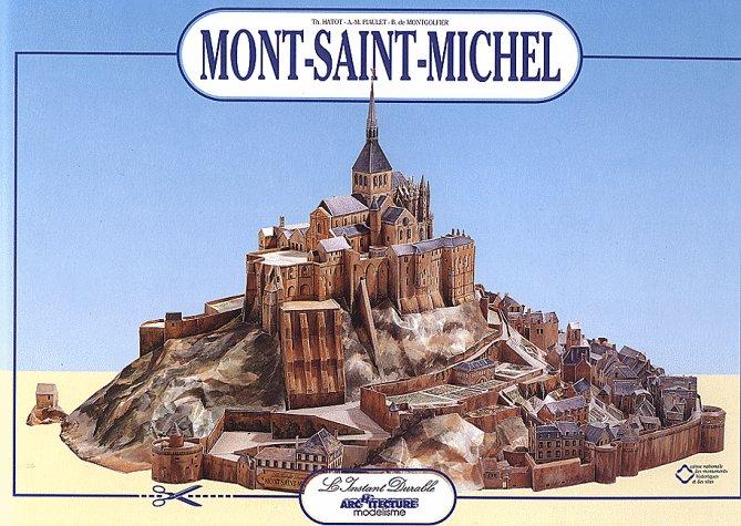 Mont-Saint-Michel: Scale Architectual Paper - Model Anne Marie