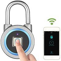 Decdeal Keyless Waterproof Fingerprint Padlock (Blue)