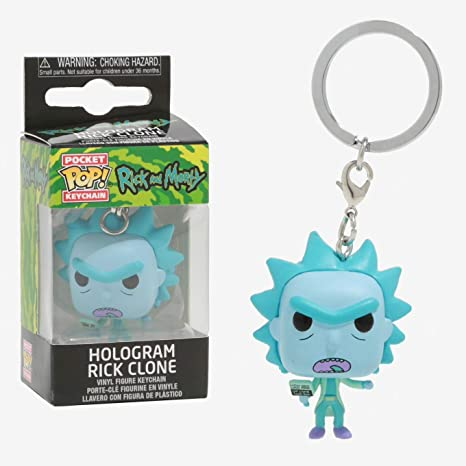 Funko Pocket Pop Keychain Rick and Morty: Hologram Rick ...