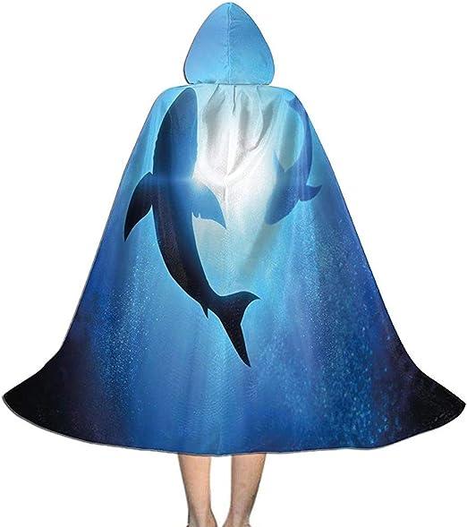 Rexing Capa del Cabo con Capucha Tiburón Mundo Submarino Siluetas ...
