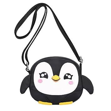 Amazon.com   Kids Shoulder Bag Crossbody Purse Mini Cartoon Animal  Preschool Messenger Handbag for Children Toddler Baby Girls Leekey (Penguin  Black)   Baby e2beb4da73f8e