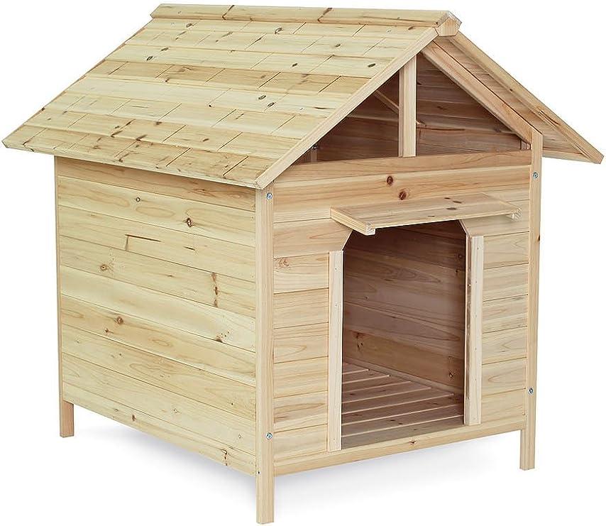 dibea DH10014 - Caseta para perros (resistente a la intemperie, madera 103 x 83 x 97 cm)