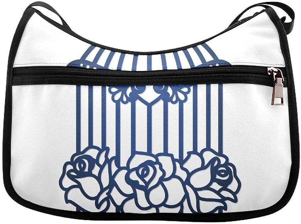 Hanging Birdcage Ivy Knitted Messenger Bag Crossbody Bag Large Durable Shoulder School Or Business Bag Oxford Fabric For Mens Womens