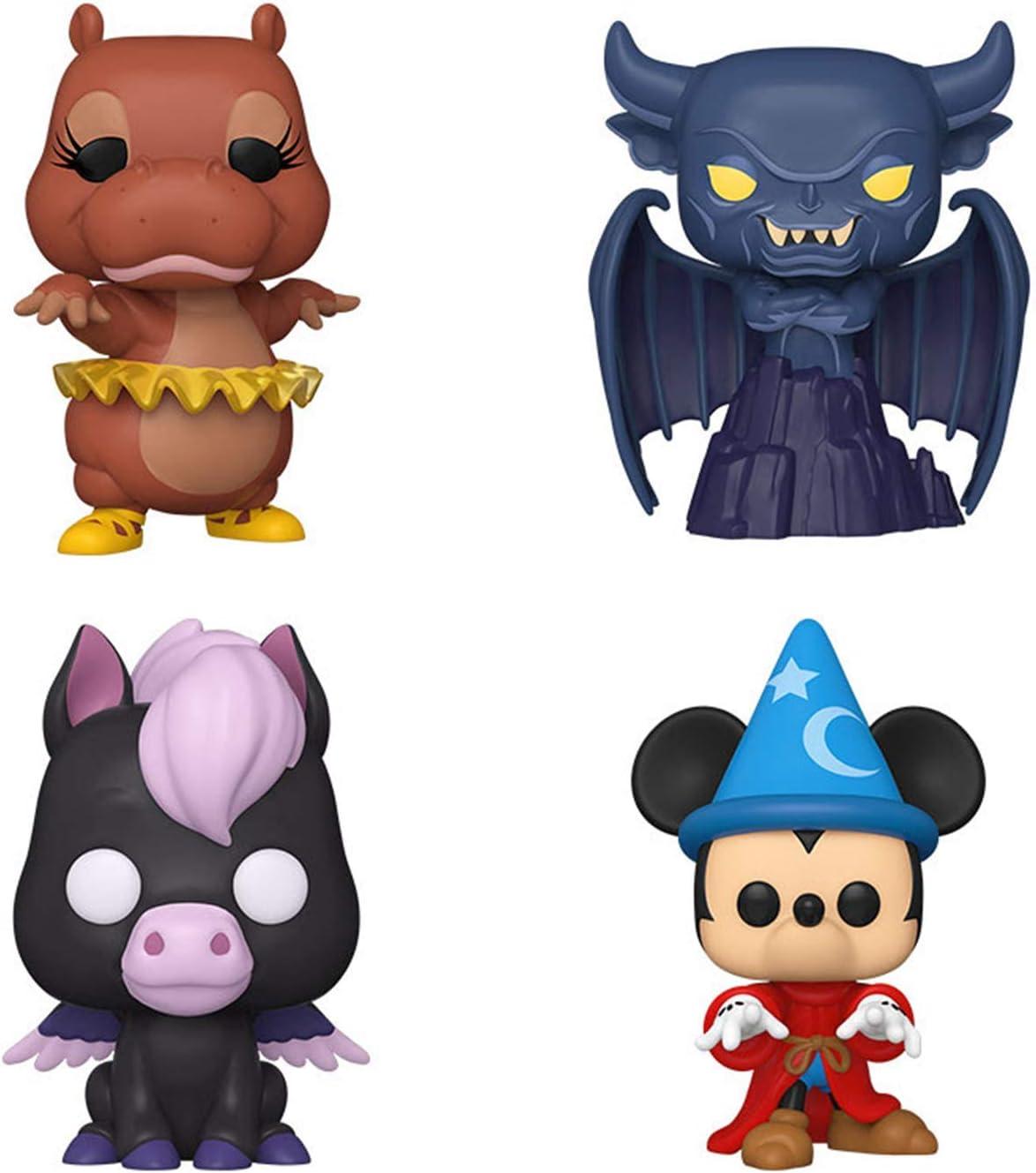 Fantasia 80th Anniversary Menacing Chernabog Set of 4 Hyacinth Hippo Funko Pop Baby Pegasus and Sorcerer Mickey