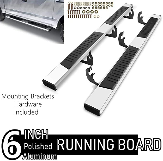 Running Boards chrome 99-06 Silverado Sierra 1500// 01-062500 HD 3500 Ext Cab