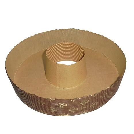 Unidades 10 forma redondo cocinar molde para bizcochos ciambellotto diámetro CM 18,5 Alto Cm