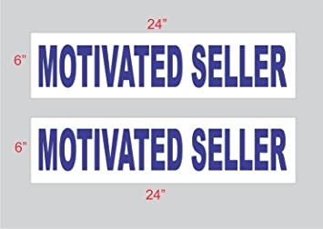 2-6x24 Commercial Real Estate Rider Sign Blue