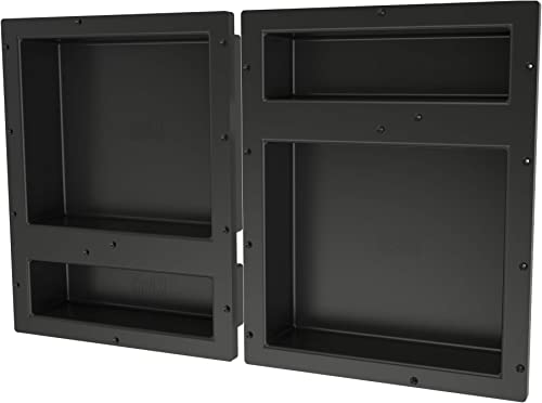 Tile Redi USA RNQH1620D-20DU Redi Niche Shower Shelf, 32 x 20 , Black