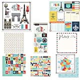 Scrapbook Customs Themed Paper & Stickers Scrapbook Kit, Paris City Memories