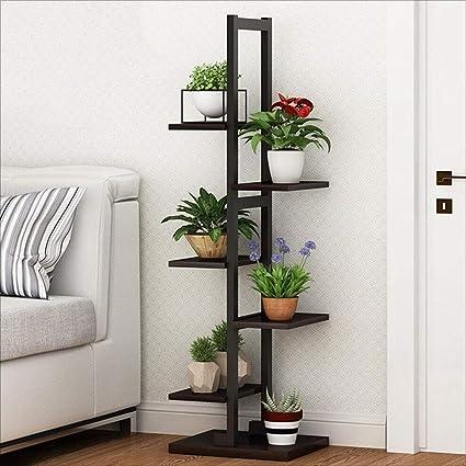 Amazon Com Xingkaiji Flower Stand Living Room Wooden 5 Layer Indoor