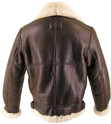 10039dff9 Genuine Sheepskin (Shearling) B-3 Bomber Jacket Made in USA