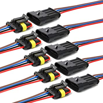 Amazon.com: YETOR 16 AWG Way Car Waterproof Electrical Connector,4 pin Plug Auto  Electrical Wire Connectors Marine for Car, Truck, Boat, and Other Wire  Connections.(5 Pack): AutomotiveAmazon.com