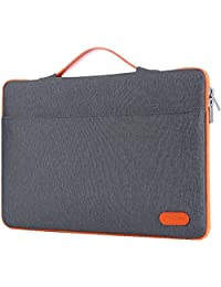 """ProCase 14-15.6 Inch Laptop Sleeve Case Protective Bag, Ultrabook Notebook Carrying Case Handbag for 14"""" 15"""" Samsung Sony ASUS Acer Lenovo Dell HP Toshiba Chromebook Computers -Dark Grey"""