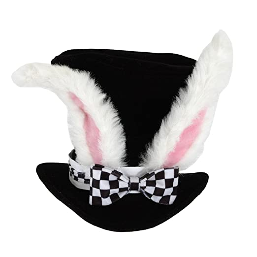 White Rabbit Hat Costume Accessory  sc 1 st  Amazon.com & Amazon.com: White Rabbit Hat Costume Accessory: Clothing