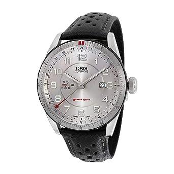 d531c1419 Image Unavailable. Image not available for. Color: Oris Artix Audi Sport  GMT Automatic Silver Dial Black Leather Mens Watch 747-7701-