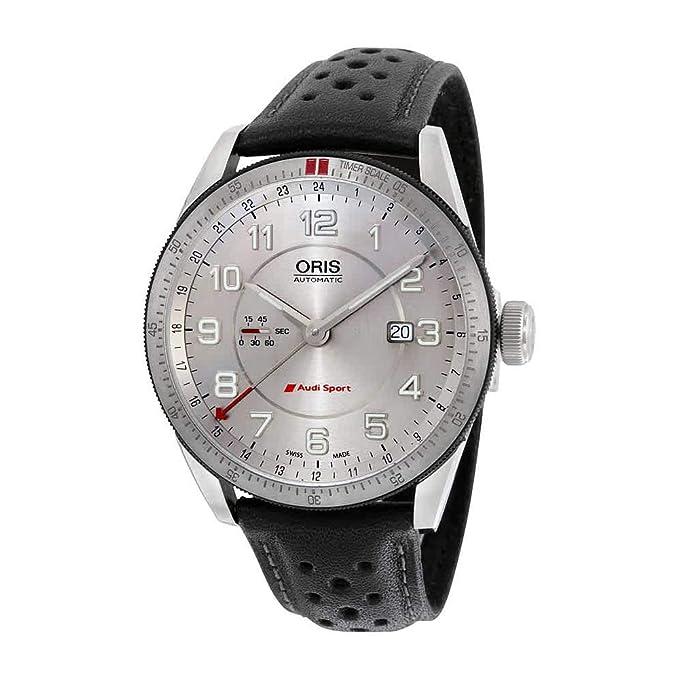 ce362e683 Amazon.com: Oris Artix Audi Sport GMT Automatic Silver Dial Black Leather Mens  Watch 747-7701-4461LS: Watches