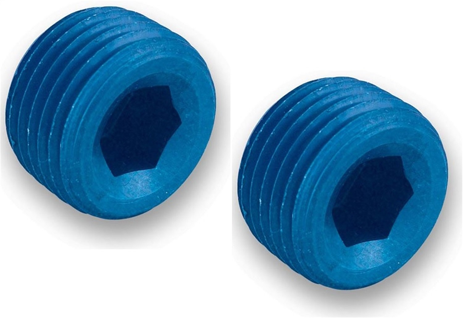 Earl's 593202 Blue Anodized Aluminum 1/8' NPT Internal Wrenching Plug - Set of 2 Earl' s Performance 9.8141G