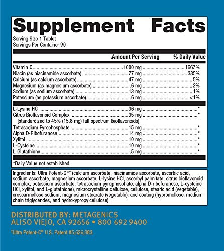Metagenics Ultra Potent-C 1000, 90 Count