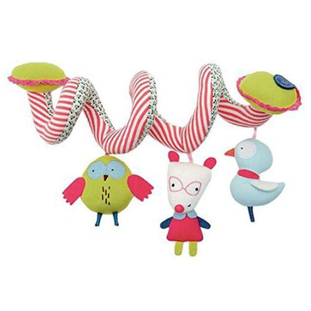 BOZEVON Spirale d'activités de Lit Bébé Jouets Poussettes pour Dormir Siège Bébé Voiture Cadeaux Soft Baby Hanging Play Mobile Cot Pram Bed Toy Activity-Spirale Jouet, Chien