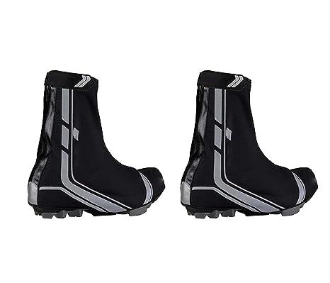 Cubre Zapatillas de Ciclismo para Pedales con calas spd Termico Waterproof Traspirable Impermeable Bicicleta MTB Talla