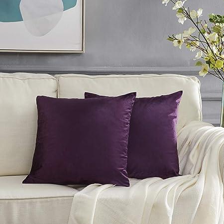 Características: Color: Púrpura; Material: Terciopelo; Medidas: 50x50cm, adaptado para 50x50 cm thro