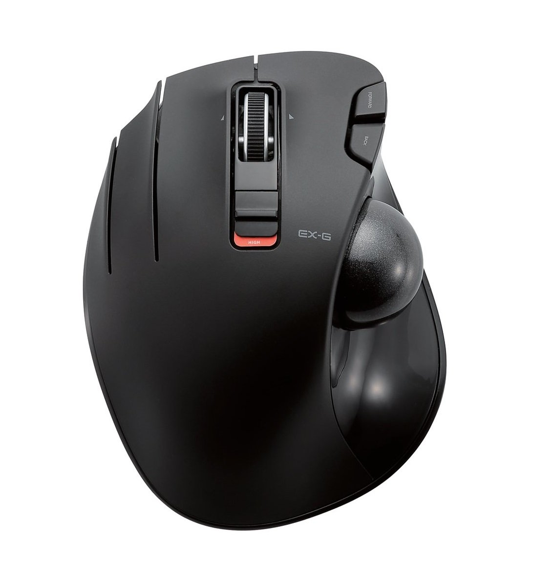 ELECOM M-XT4DRBK Wireless Trackball mouse for Left-Handed, EX-G series L size 2.4GHz 6 buttons Black by ELECOM