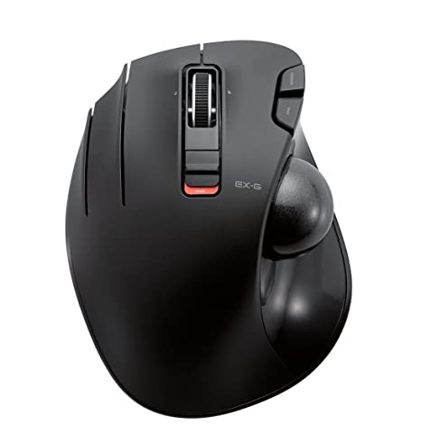 5b962bc6caf Amazon.com: ELECOM M-XT4DRBK Wireless Trackball mouse for Left-Handed, EX-G  series L size 2.4GHz 6 buttons Black: Computers & Accessories