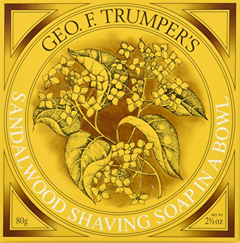Geo F. Trumper Sandalwood Hard Shave Soap in Wooden Bowl