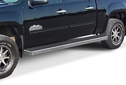 Wheel To Wheel Running Boards >> Aps Iboard Silver 6 Inches Wheel To Wheel Running Boards Nerf Bars Side Steps Step Rails Compatible With 2001 2013 Chevy Silverado Gmc Sierra 1500