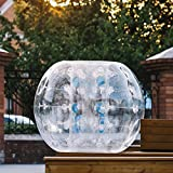 Happybuy Inflatable Bumper Ball 1.2M/4ft 1.5M/5ft Diameter Bubble Soccer Ball Blow Up Toy in 5 Min Inflatable Bumper Bubble Balls for Adults or Child (Transparent, 4ft)