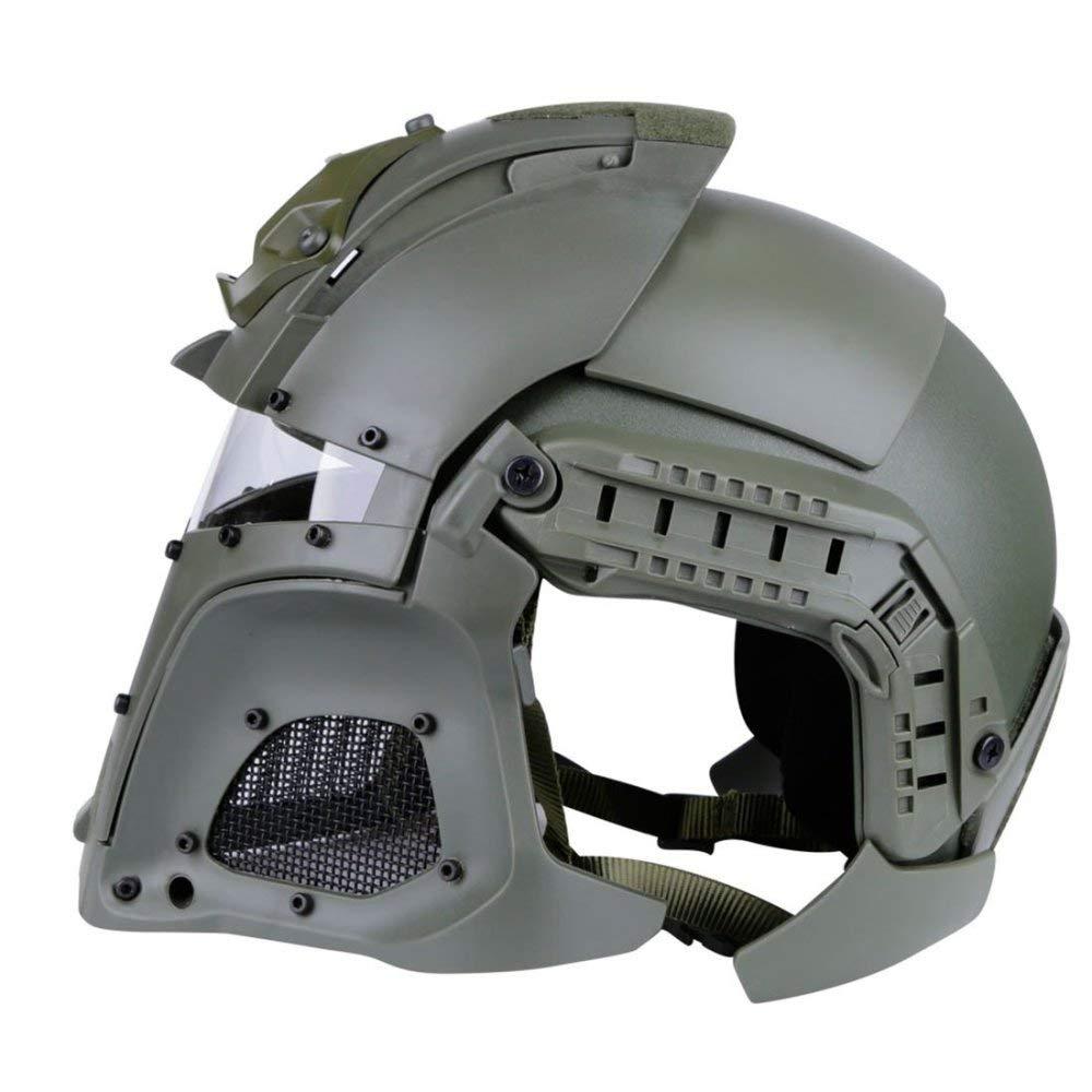 BUG-LPH Radfahren im Freien Taktische Sport Helm Vollmaske mittelalterliche Iron Knight Brille Paintball Fechten Schutz